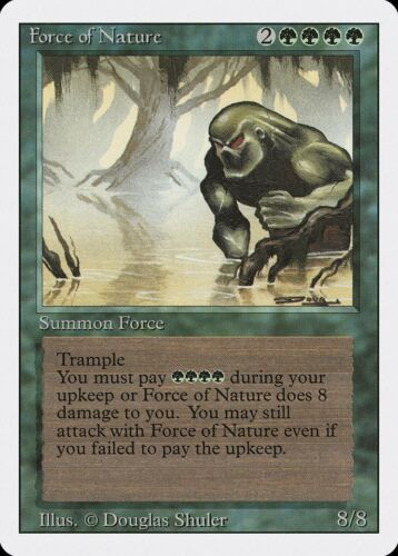Force of Nature Revised HEAVILY PLD Green Rare MAGIC THE GATHERING CARD ABUGames