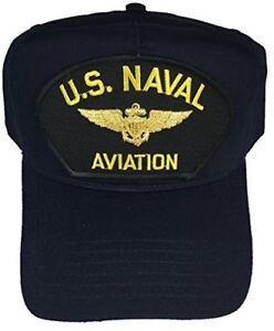 85cfdb649a9 US NAVAL AVIATION W  AVIATOR WINGS BADGE HAT CAP PILOT NAVIGATOR ...