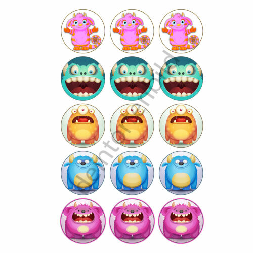 Monstre multicolores Muffin aufleger Photo Muffin Cupcakes fototorte Cupcake Motif