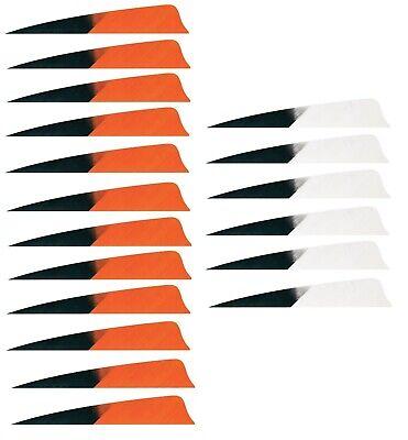 """Arrows & Parts Federnset Für 6 Pfeile Gateway Kuro 4"""" Shield Naturfedern Befiederung"""