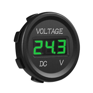 MICTUNING-Car-DC-12V-24V-Voltmeter-Green-LED-Digital-Display-Waterproof-Voltage