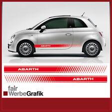 Fiat 500 Abarth EVO Seitenstreifen Aufkleber Dekor #016