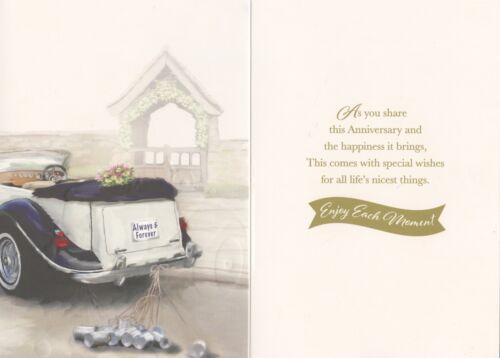 CUTE TRADITIONAL NANNA AND GRANDAD WEDDING ANNIVERSARY CARD 1ST P/&P