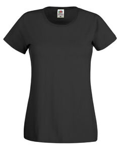 LADIES-Fruit-of-the-Loom-T-SHIRT-21-Colours-100-Cotton-Lady-Fit-Original-Tee
