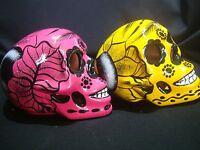 Lot Of 2 Day Of The Dead Sugar Skull, Talavera Mexican Wall Art, Mask Catrina