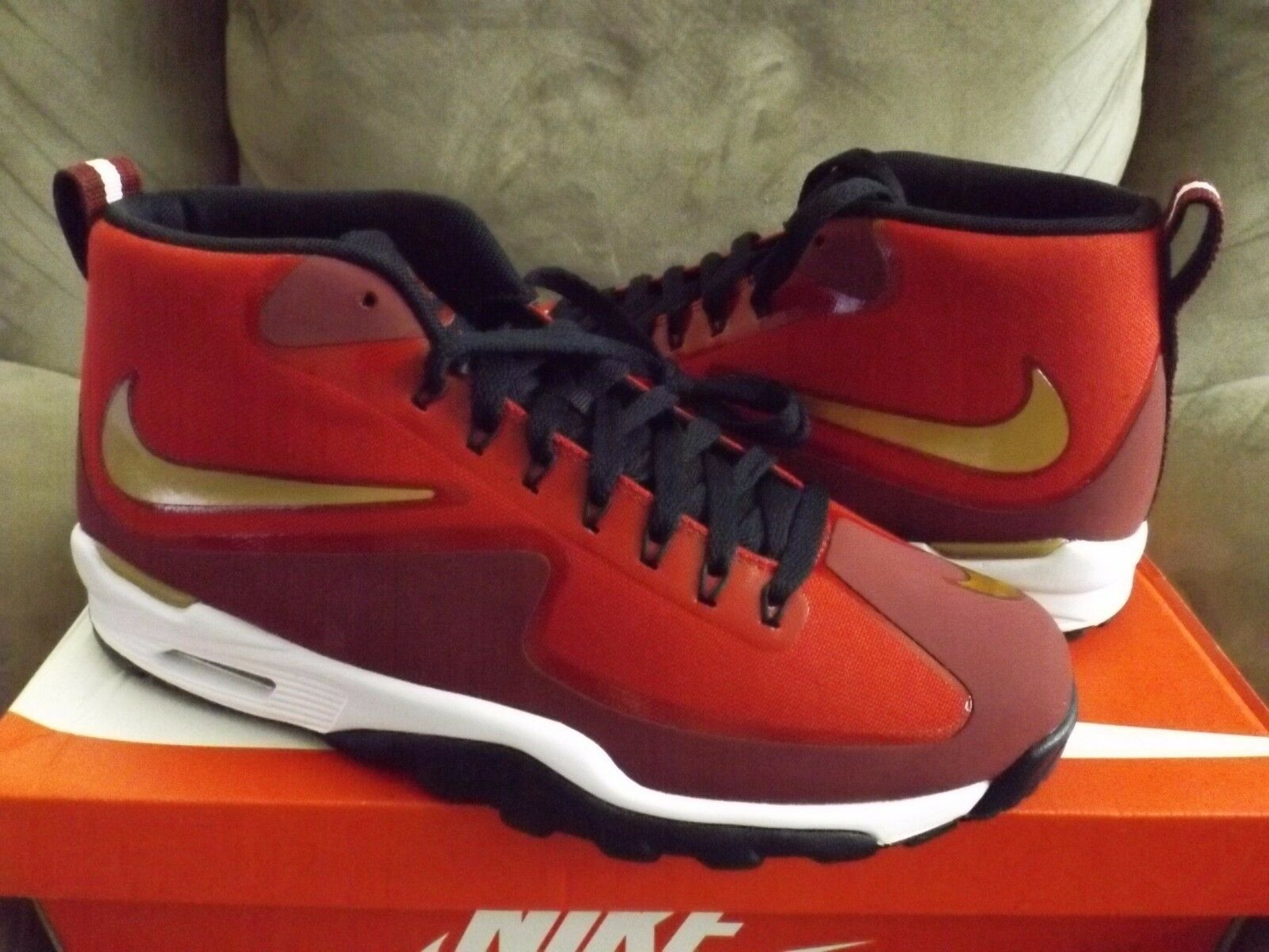 Nike Air Untouchable Vapor Men's shoes Gym Red gold Red White 807164-600 (NEW)
