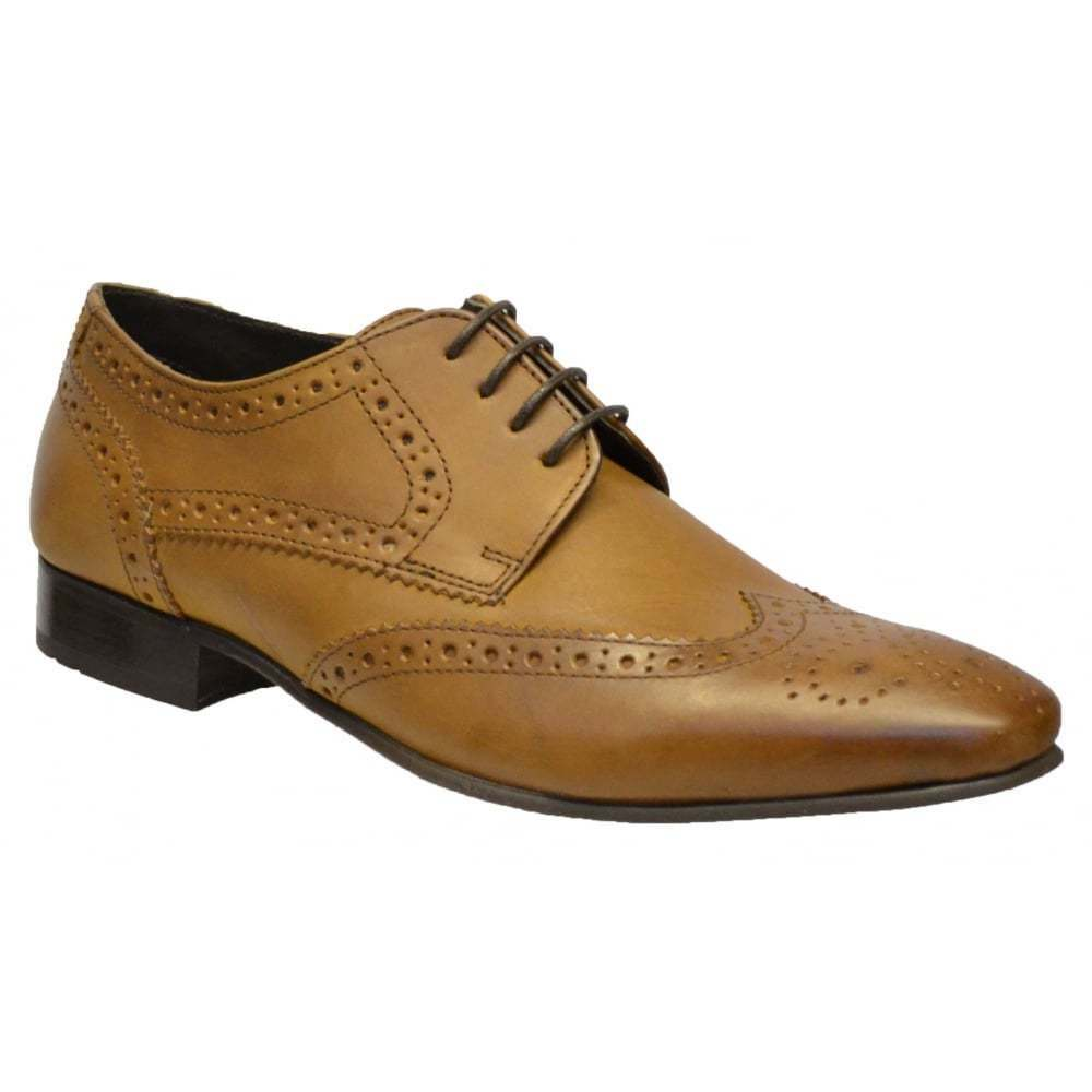 Ikon Ritchie Brogue Leather Mens Shoes All Sizes in Various Colours