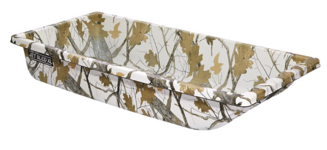 Shappell Winter Camo Ice Fishing Jet Sled 1