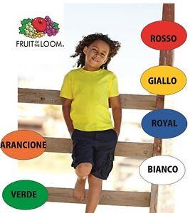 Abbigliamento E Accessori Bambino: Abbigliamento T-shirt Bambino Fruit Of The Loom Maglia Maniche Corte Scuola Recita Bimbi Bimbo
