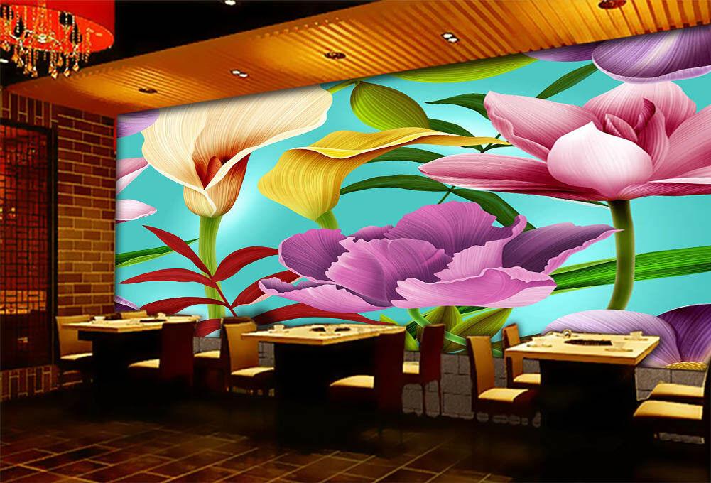 Beautiful Lily Swaying 3D Full Wall Mural Photo Wallpaper Print Home Kids Decor
