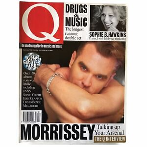 Q Magazine Morrissey The Smiths INXS Sonic Youth David Bowie Megadeath 1992 Sept