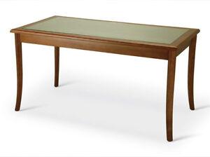 Tavoli In Legno E Vetro : Tavolo rettangolare con struttura in legno e top in vetro