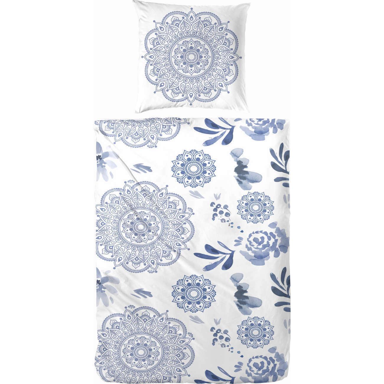 Primera Bettwäsche 123064-003 Mandala Blaumen Blüten Weiß Blau Blau Blau 155x220 | Helle Farben  9b637f