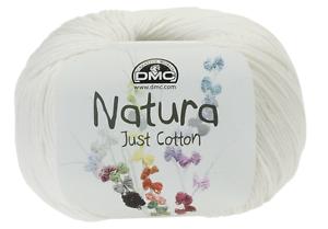 Knitting Yarn 50g ea  Ivory N02 2 balls DMC Natura Just Cotton Crochet