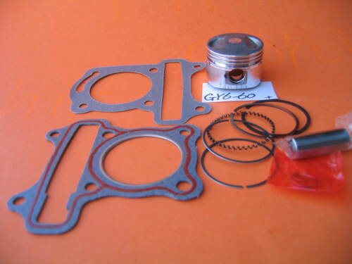 Honda GY6-60 Piston 44mm Bore Rings Pin Gaskets Clips Kit GY6 139QMB 4-Stroke