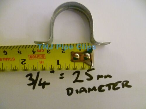 10 X Steel Saddle Band Zinc Plated Clamp Pipe Clip