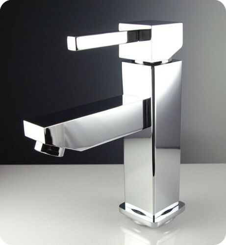 Chrome Fresca Bevera Single Hole Mount Bathroom Vanity Faucet