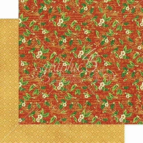 double face Holly Daze Graphique 45 2 feuilles St Nicholas Collection