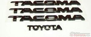 oem toyota tacoma black emblem set fits 2005 2016 75471. Black Bedroom Furniture Sets. Home Design Ideas