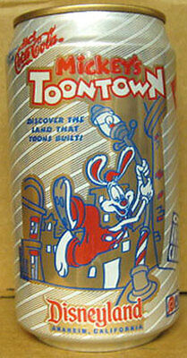 DIET COCA-COLA MICKEY/'S TOONTOWN Soda CAN Disneyland GEORGIA 1992 1//1+ Atlanta