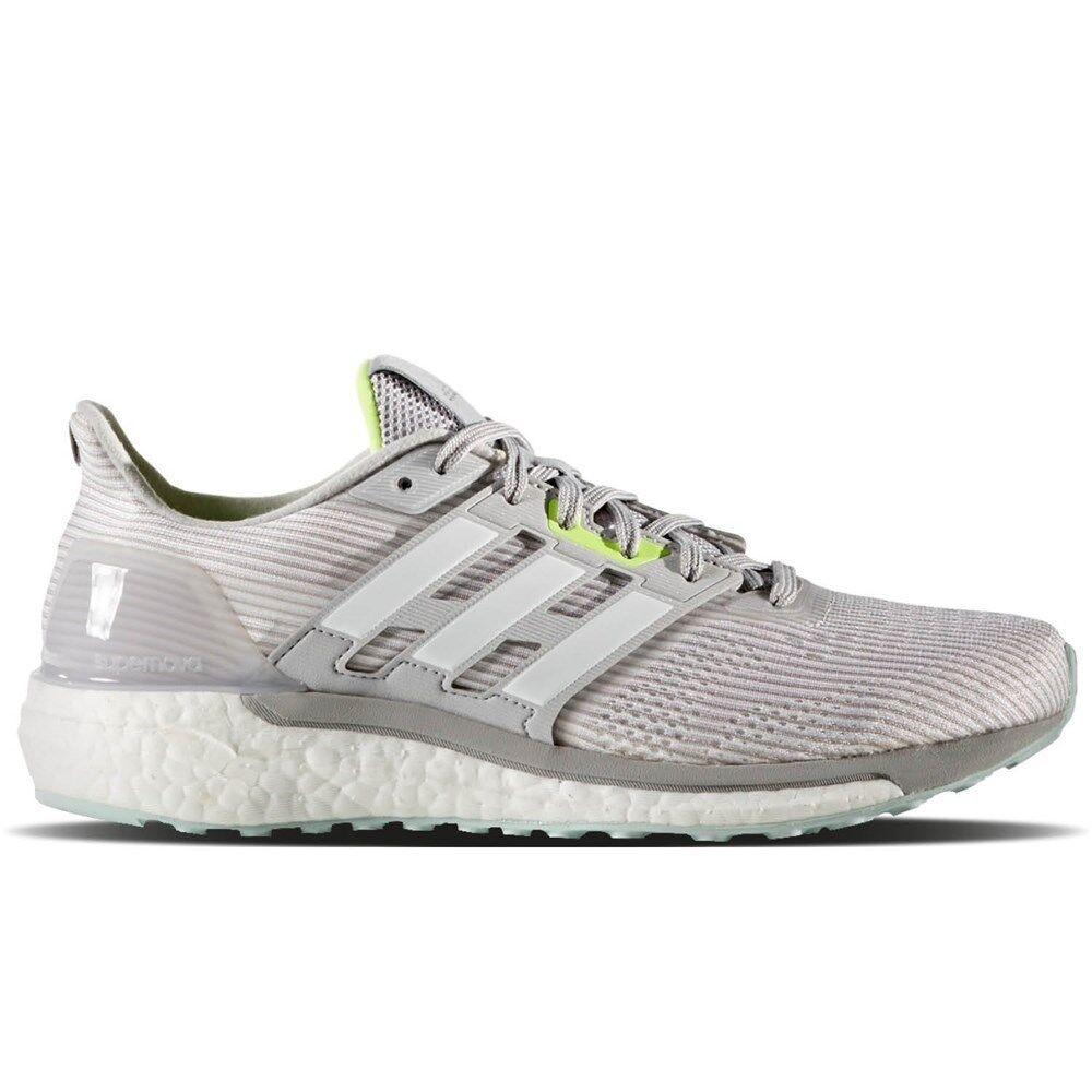 NEW adidas Women Supernova Boost Running BA9937 Grey White MSRP 130 shoes SZ 11.5