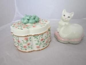 Lenox Cat Family PATRIOTIC PARADE 3Pc Set NEW IN BOX!