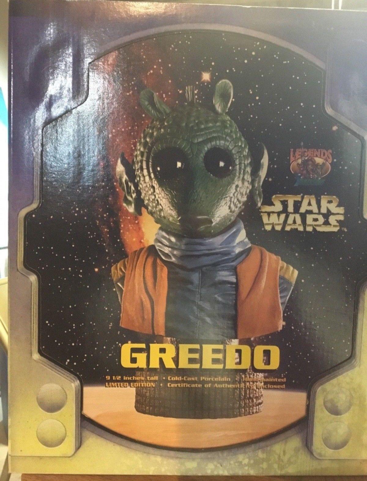 STAR Wars dimensioni in 3d GREEDO LEGGENDE Busto