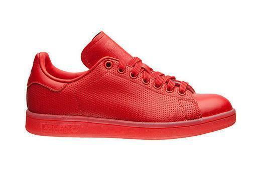 Homme ADIDAS STAN SMITH ADICouleur en Cuir Rouge Baskets S80248