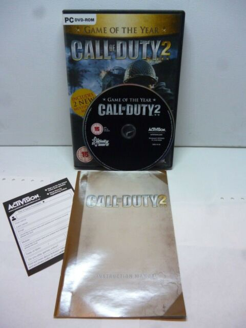 PC DVD Call of duty 2 game of the year Includes 2 new Multiplayer maps