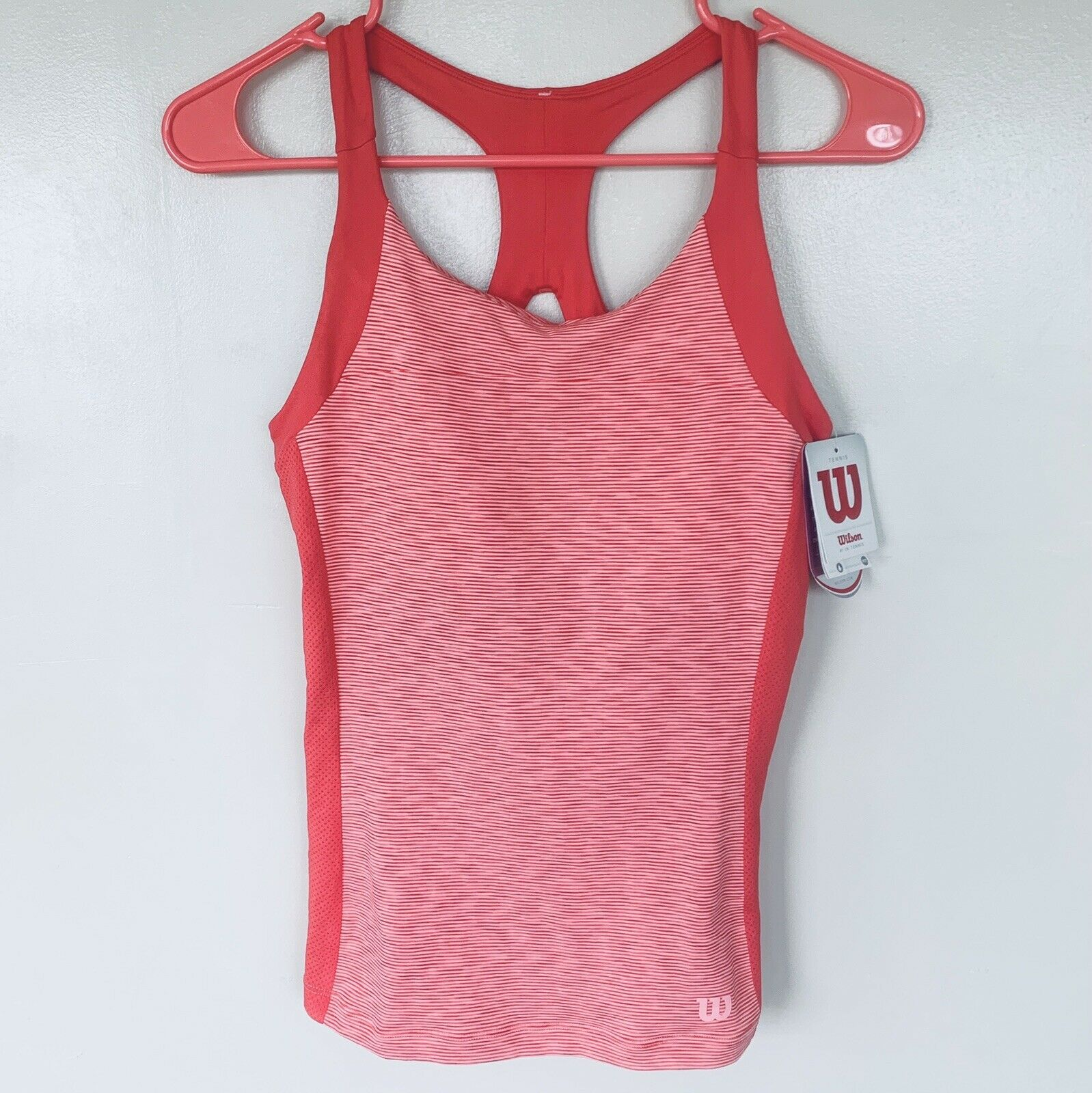 NEW with Tags WILSON Women's Striated Racerback Tank Top Tennis Gym ~ Small