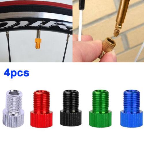 4pcs Bike Bicycle Tire Inflation Air Pump Presta To Schrader Valve Converter