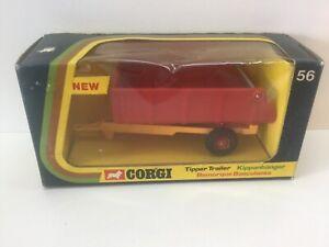 Vintage-Corgi-56-Volquete-Remolque-de-menta-y-en-caja