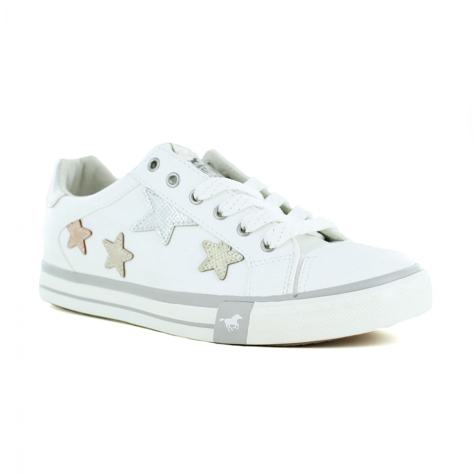 Mustang 1146-308-1 Womens Fashion Trainer Shoes - White