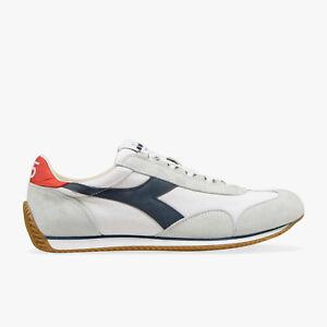 Details about Diadora Heritage Shoes Sneakers Mens Team H Canvas Stone Wash White Blue Denim show original title
