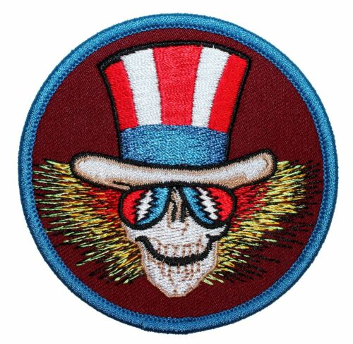 "Grateful Dead Uncle Sam Iron On Patch 3/"" OfficiallyLicensed P-1297 Free Shipping"