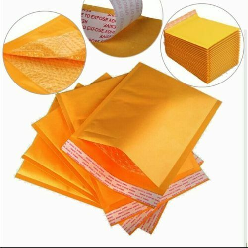 140mm x 195mm Internal Size 200 Gold PP3 Eco Lite Padded Envelopes Free Deliv