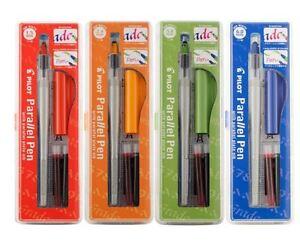 Pilot Parallel Calligraphy Pen Set, 1.5mm, 2.4mm, 3.8mm, & 6.0mm with Bonus Ink