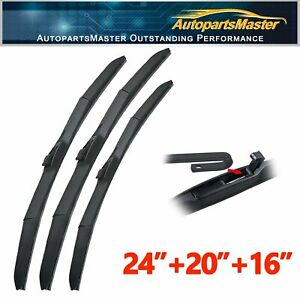 "ABLEWIPE Fit For FORD FREESTAR 2004-2007 Beam Windshield Wiper Blades 24/""20/""16/"""