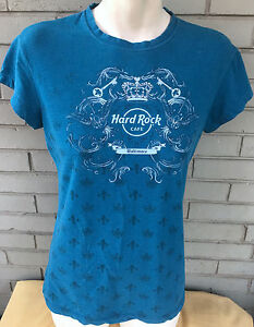 Hard-Rock-Cafe-Baltimore-Girly-XL-Blue-Rock-Couture-Top-T-Shirt