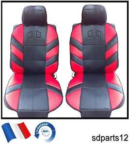 Radient Housses Coussin Couvre-sieges Rouge-noir Pour Renault Trafic Master Kangoo