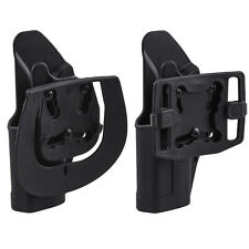 Quick Tactical Holster Right Hand Paddle & Belt Holster for Glock 17/22/31 Black