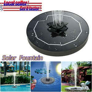 3W Bird Bath Solar Fountain Powered Water Pump Floating Outdoor Pond Garden Pool