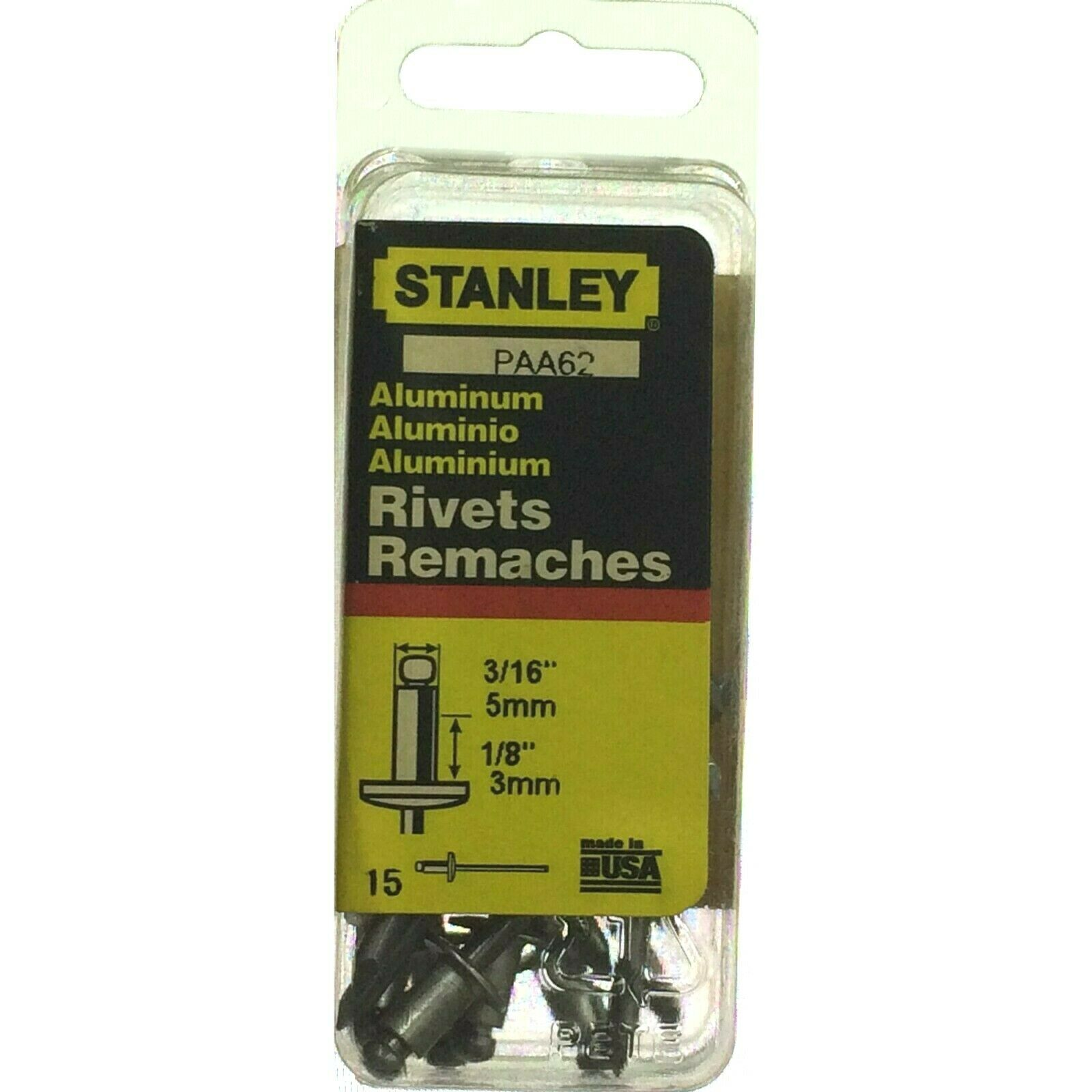 Assorted STANLEY Aluminum your Choice Stainless Steel Rivets