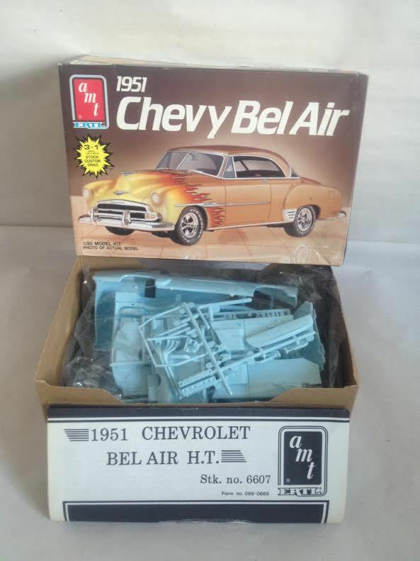 AMT 1951 CHEVY BEL AIR 1 25 SCALE 3 IN 1 MODEL KIT SEALED