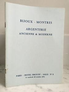 Catalogue Di Vendita Gioielli Orologi Argenteria Sala N°8 20 Ottobre 1972