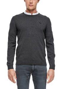 s-Oliver-Casual-Men-noos-Pullover-mit-Logo-Stitching-Neu