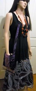 Ladies-made-in-Australia-Black-stretchy-sleeveless-top-size-14-with-ties-to-back