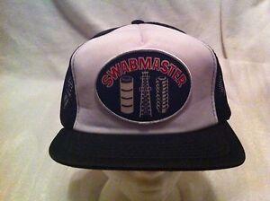 Swabmaster-Baseball-Cap-Hat-Patch-Black-amp-White-Mesh-Trucker-Snapback