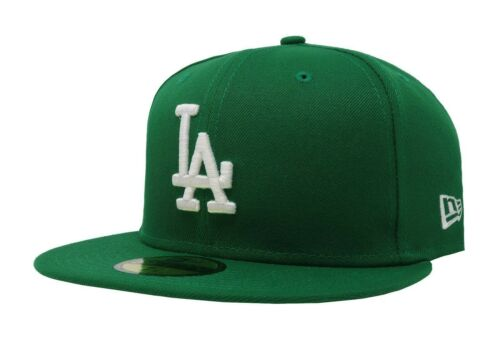 New Era 59Fifty Hat Cap Los Angeles Dodgers Men Adult Size Kelly Green Fitted LA
