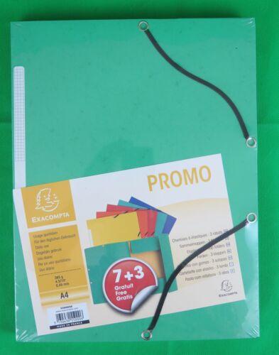 Exacompta Sammelmappe Promo-Pack 7+3 A4  farbig sortiert
